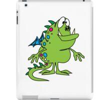 Green cute cartoon dragon iPad Case/Skin