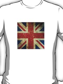 Grunge Union Jack - Scratched Metal Effect T-Shirt