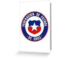 Chile Soccer Logo Greeting Card
