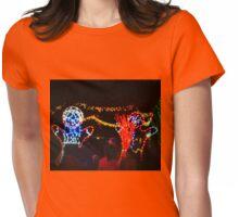 Dancing gingerbread men Womens Fitted T-Shirt