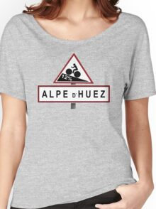 Alpe d'Huez Road Sign Cycling Women's Relaxed Fit T-Shirt