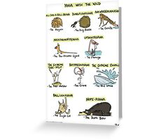 Yoga with the Wild Greeting Card