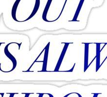 The Best Way Out Librarians Reference Robert Frost Ezekiel Jones Phrase Sticker