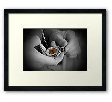 Time...no time at all. Framed Print