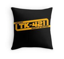 TK-421 Throw Pillow