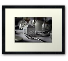 The Table is Set.. Framed Print