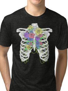 Pastel Flower Cage Tri-blend T-Shirt