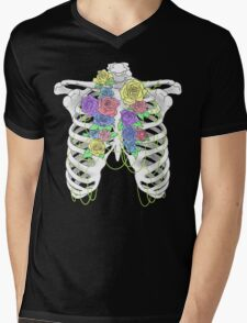 Pastel Flower Cage Mens V-Neck T-Shirt