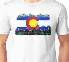 Artistic Denver Colorado skyline design Unisex T-Shirt