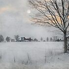 Moon Over Hunterdon Hills by Pat Abbott