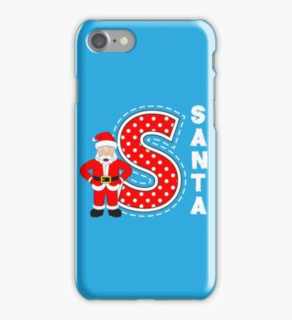 'S' is for Santa! iPhone Case/Skin