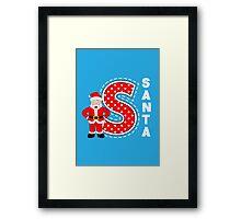 'S' is for Santa! Framed Print