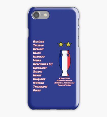 France 2000 Euro Winners iPhone Case/Skin