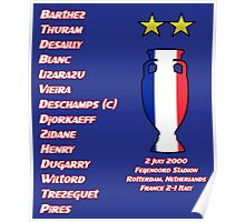 France 2000 Euro Winners Poster