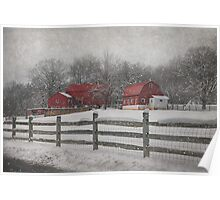 Winter At Buffalo Hollow Farm 2014 Poster