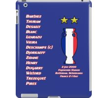 France 2000 Euro Winners iPad Case/Skin