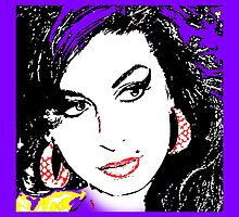 Amy Winehouse Cushion Throw Pillow by Glenys Everest