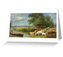 A Midsummer's Day on the Thames Greeting Card