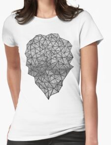 Black Heart Womens Fitted T-Shirt