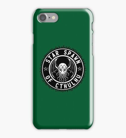 Star Spawn of Cthulhu - black and white iPhone Case/Skin