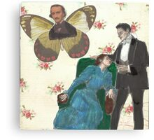 Poe Butterfly(please read description of this work) Canvas Print