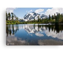 Mount Shuksan Reflected in Picture Lake Canvas Print