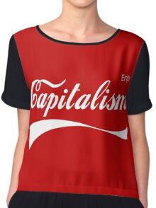 Enjoy Capitalism Chiffon Top