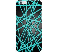 Abstract Phone Case (Light Blue) iPhone Case/Skin