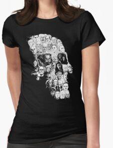 horror skull Womens Fitted T-Shirt