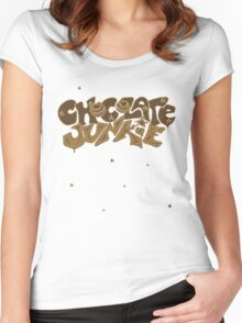Chocolate Junkie  Women's Fitted Scoop T-Shirt