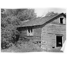 Abandoned Barn Falling to Ruin Poster