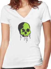 Toxic Death  Women's Fitted V-Neck T-Shirt