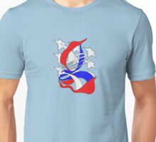 Red White and Blue Ribbon Head Unisex T-Shirt