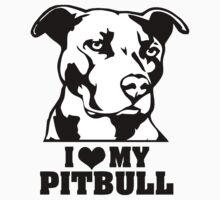I love my Pitbull! by RAINBOWARTS