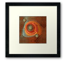Abstract on a cracked wall Framed Print