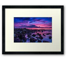 A Velvet Dawn Framed Print