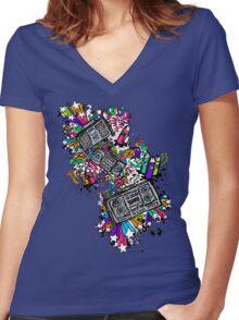 Blaster Shaz Women's Fitted V-Neck T-Shirt