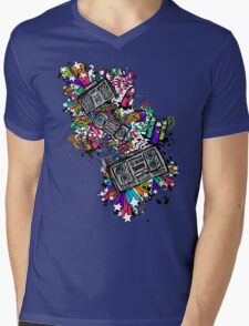 Blaster Shaz Mens V-Neck T-Shirt