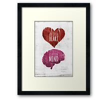 Open Heart, Open Mind Framed Print