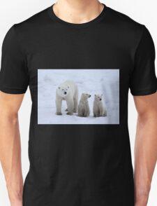 FAMILY PORTRAIT #2 - Polar Bears, Churchill, Canada Unisex T-Shirt