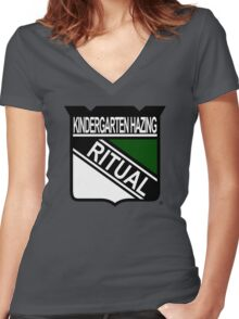 New York Hazing Ritual 1 Women's Fitted V-Neck T-Shirt