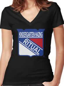 New York Hazing Ritual 2 Women's Fitted V-Neck T-Shirt