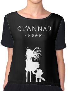 CLANNAD - Girl & Robot (White Edition) Chiffon Top