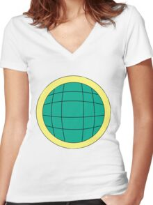 Kwame - Captain Planet Planeteer Women's Fitted V-Neck T-Shirt