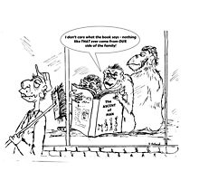 Zoo Humour - Cartoon 0027 Photographic Print