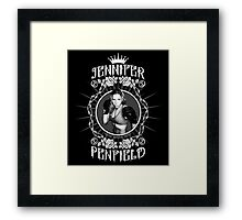 Jennifer Penfield Mixed Martial Artist promotional desgin Framed Print