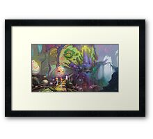 Hyperbolic exchange of telekenetic body fluids from our friends on Planet Solaris Framed Print