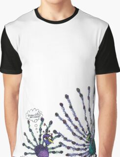 Showoff Peacock Graphic T-Shirt