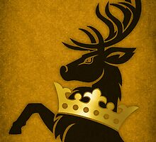 Crowned Stag by Digital Phoenix Design