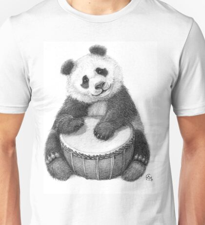 Panda playing percussion G140 Unisex T-Shirt